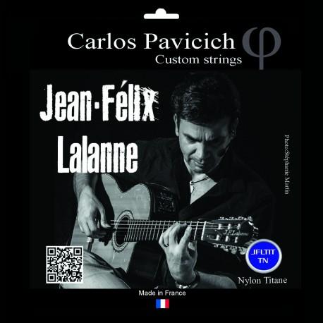 Classic guitar set Jean-Félix Lalanne Titanium nylon normal tension
