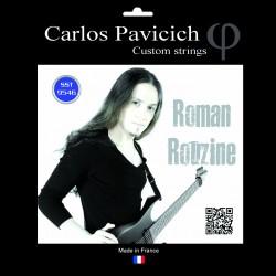 6 strings set Roman Rouzine Stainless steel 1046