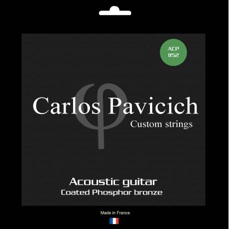 Jeu  guitare  acoustique Phosphore-bronze 1152