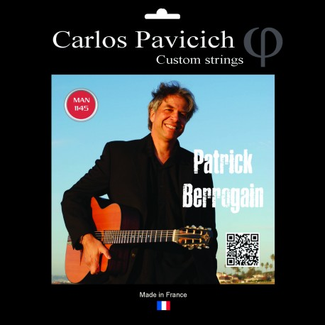 Patrick Berrogain Gypsy Jazz ball end string set 1045