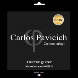 CUSTOM ::: Electric guitar Nickel NPS8 wound