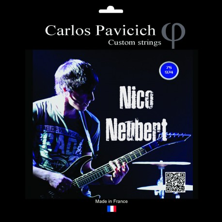 Stainless steel 9-74 electric 7 strings guitar set Nico Neubert