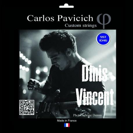 Jeu  guitare  électrique stainless steel 1046 Dinis Vincent signature
