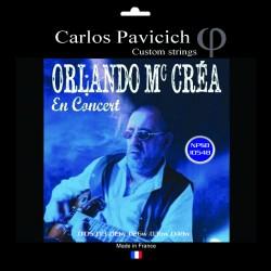 Jeu  guitare  électrique Nickel wound  Orlando Mc Créa 10548