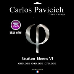 Jeu guitare basse VI Nickel  25-95