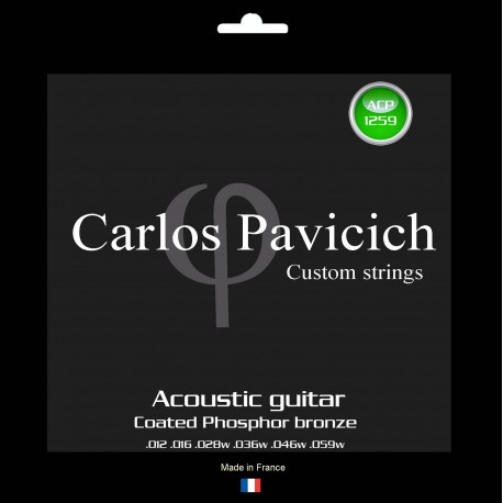 Coated Phosphorus bronze  1259 acoustic guitar set