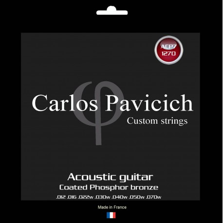 Coated Phosphorus-Bronze  1270  acoustic 7 strings guitar set