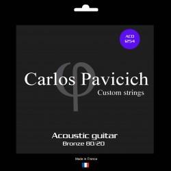 Bronze 80/20  1254 acoustic guitar set