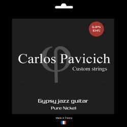 Pure nickel Gypsy Jazz ball end string set 1045