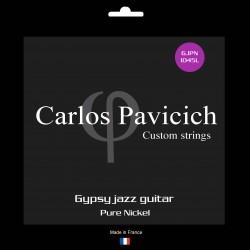 Pure nickel Gypsy Jazz Loop end string set 1045L