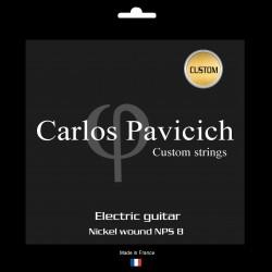 Custom set electric guitar Nickel NPS8 wound