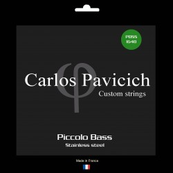 Piccolo bass set 16-48 Stainless steel